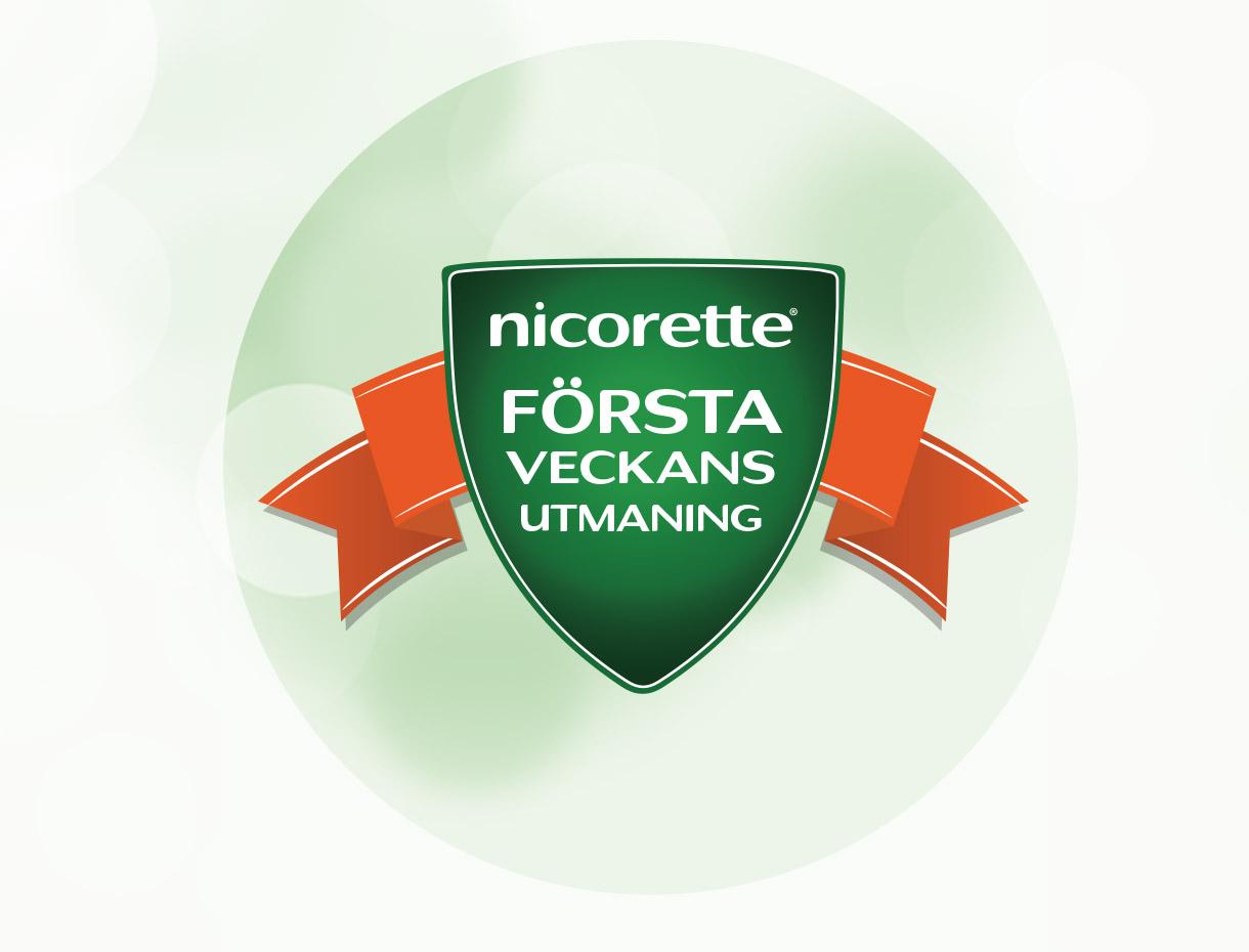 NICORETTE® första veckans utmaning